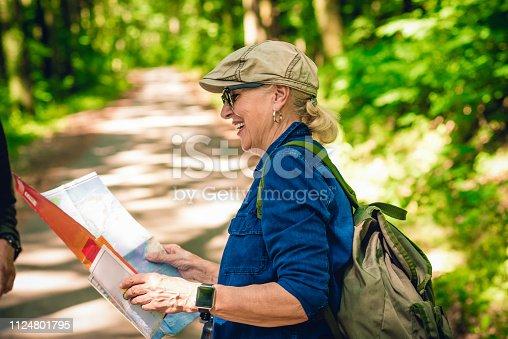 istock senior woman hiking 1124801795