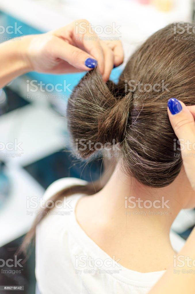 Senior Frau im Friseursalon – Foto