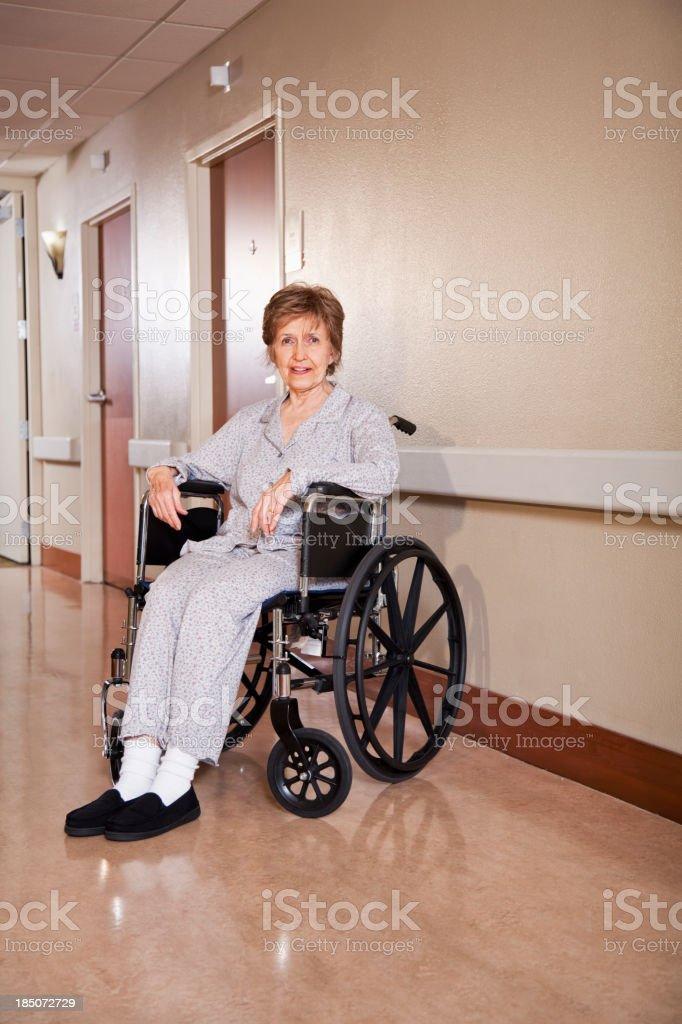 Senior woman in wheelchair royalty-free stock photo