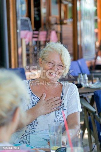 istock Senior woman laughing 840432564