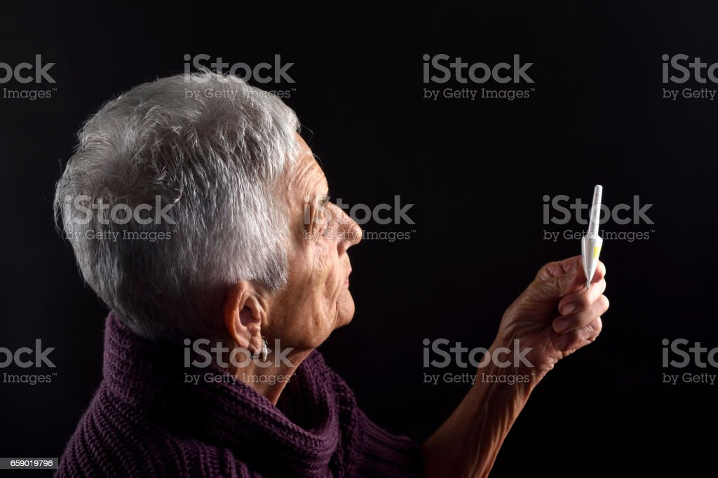 Senior woman Laxative royalty-free stock photo