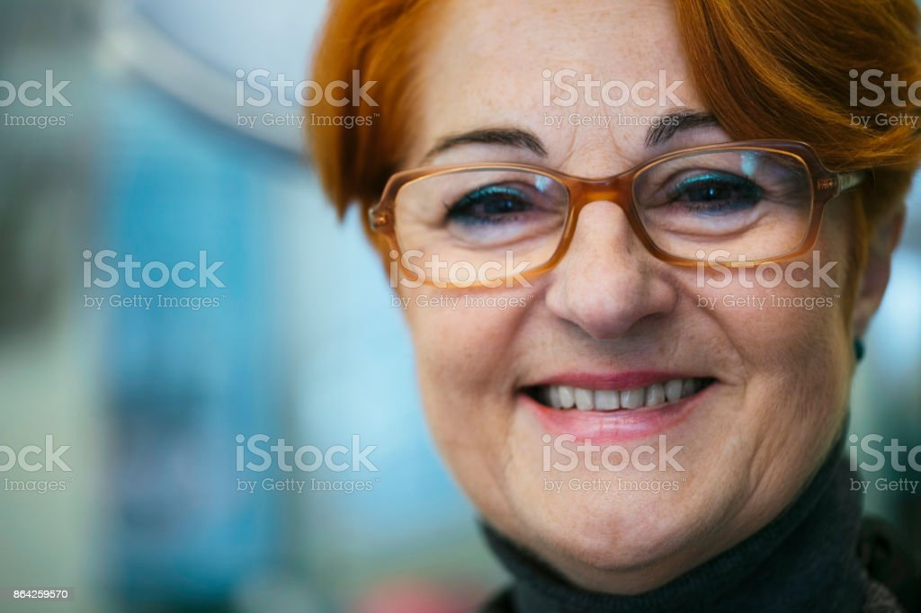 Senior Woman Looking royalty-free stock photo