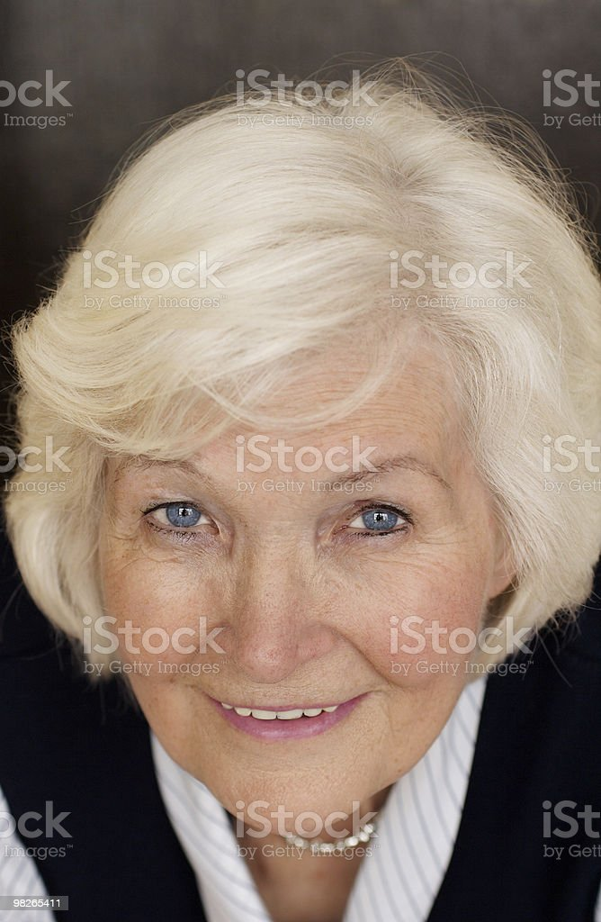 Senior woman, looking up royalty-free stock photo