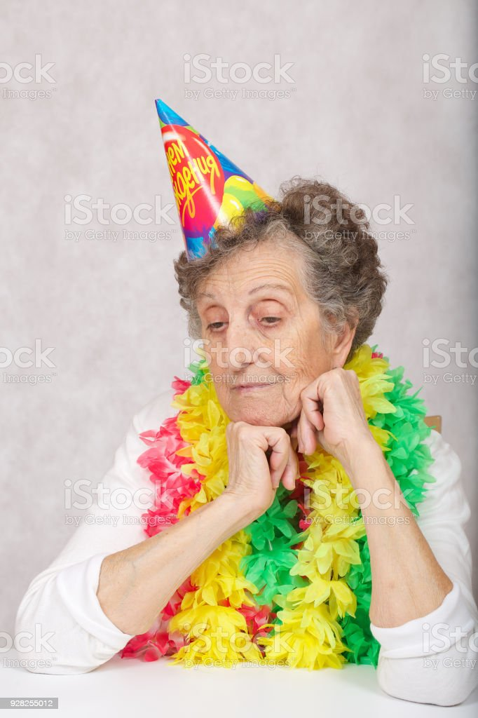 Senior Woman Of 80 Years Old Is Ready For Birthday Party