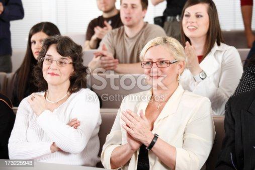 862718922 istock photo Senior woman on lectures 173225943
