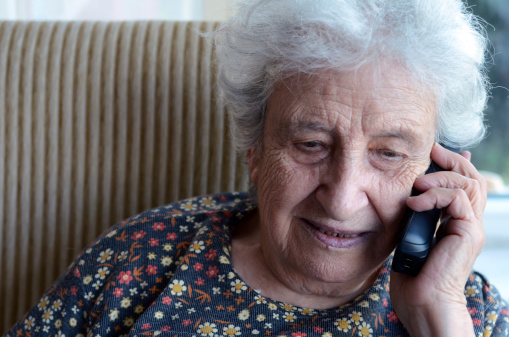 Senior Woman On Phone Stock Photo - Download Image Now