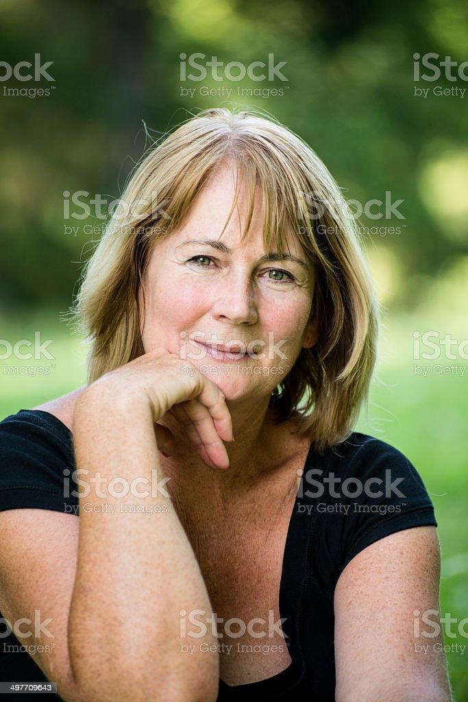 Senior woman outdoor portrait royalty-free stock photo