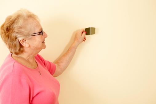 594910248 istock photo senior woman picking paint 182858801