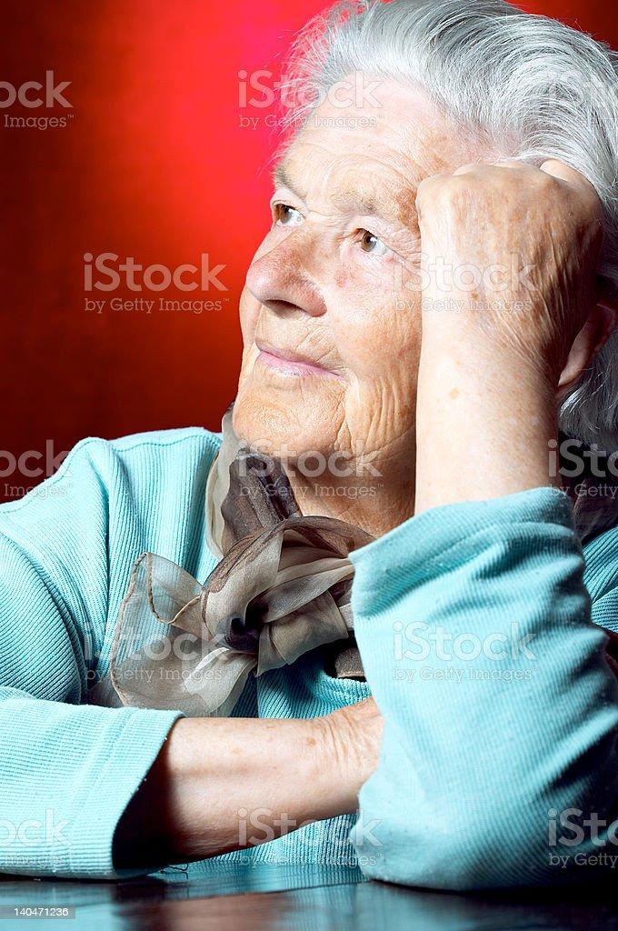 Senior woman royalty-free stock photo
