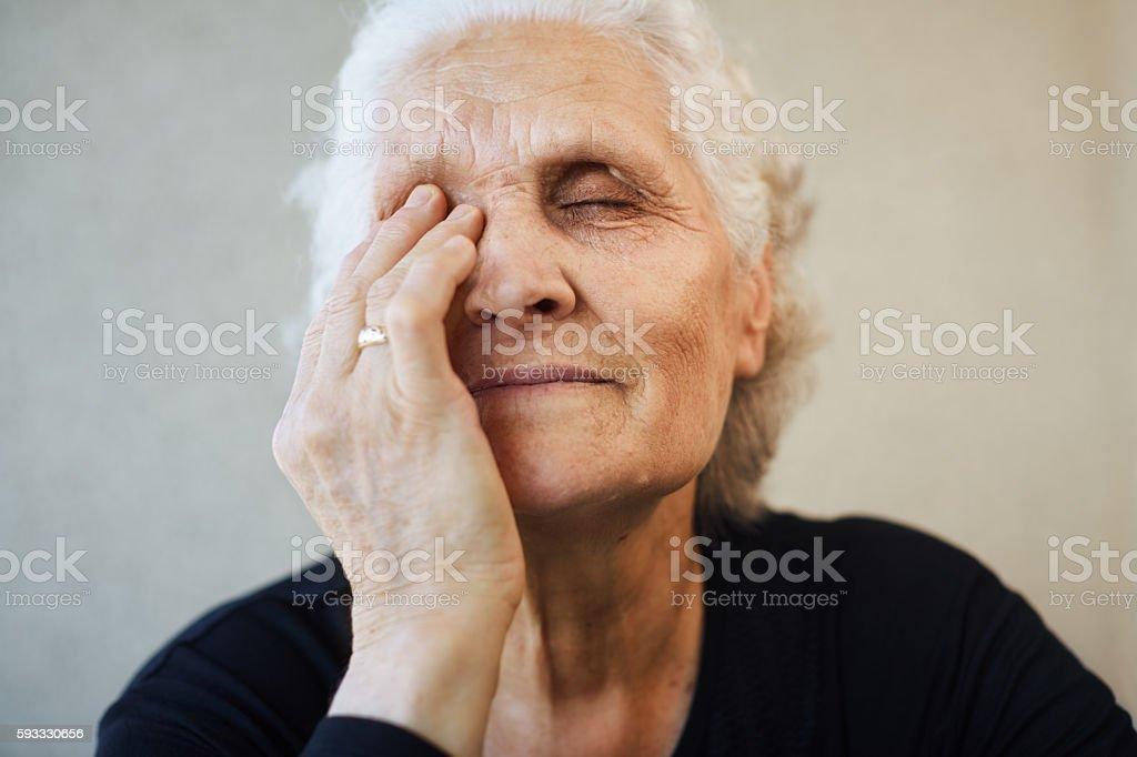 Senior woman stock photo