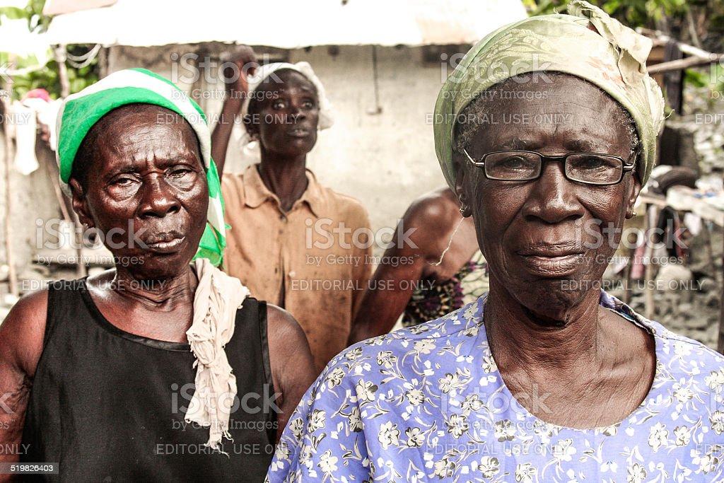 Senior woman portrait - Africa, Ghana stock photo