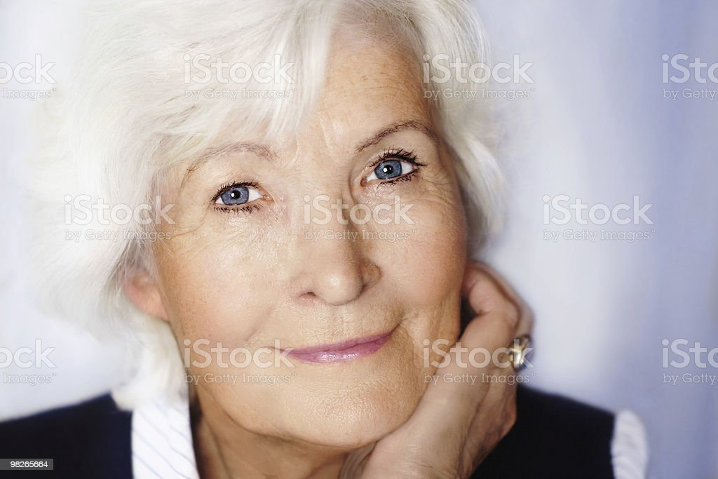 Senior woman portrait closeup royalty-free stock photo