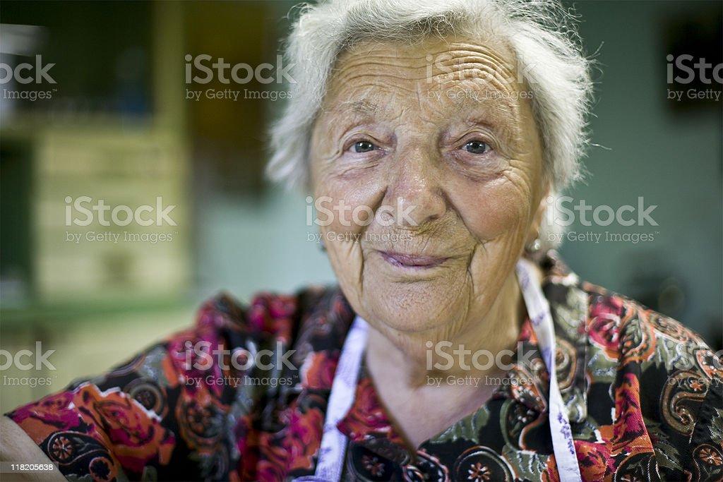 Senior woman portrait royalty-free stock photo