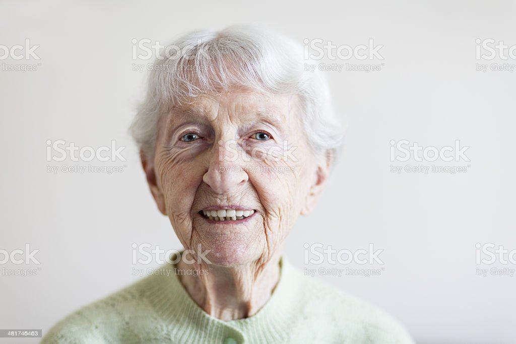 senior woman portrait portrait of a senior woman, 91 years old 80-89 Years Stock Photo
