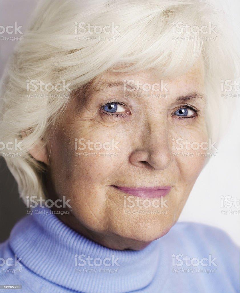 Ritratto di donna Senior foto stock royalty-free