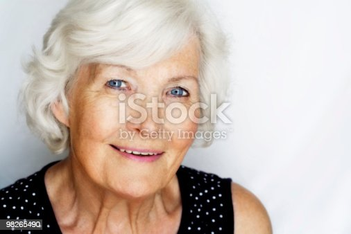 istock Senior woman portrait 98265490