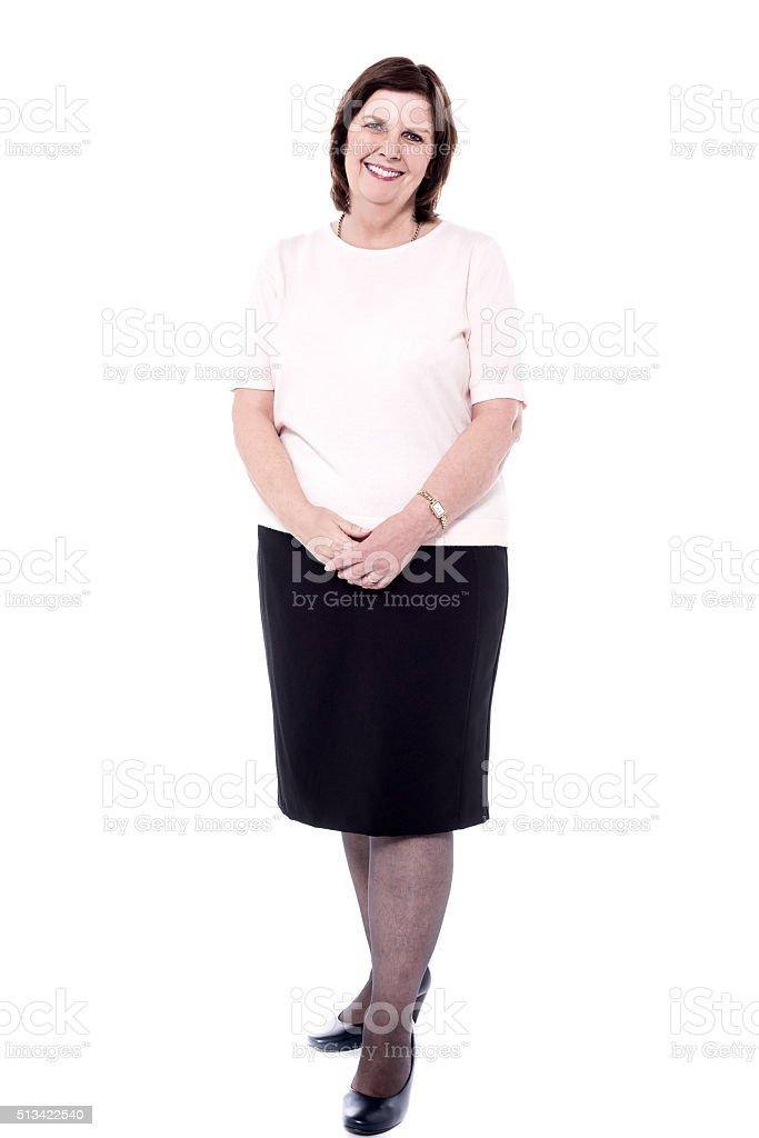 Senior woman posing casually royalty-free stock photo