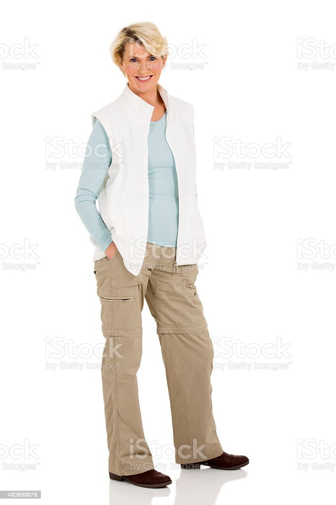 senior woman posing stock photo