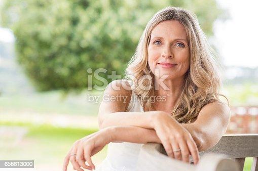 istock Senior woman relaxing 658613000