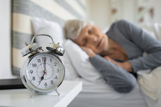 Senior Frau Schlafen – Foto