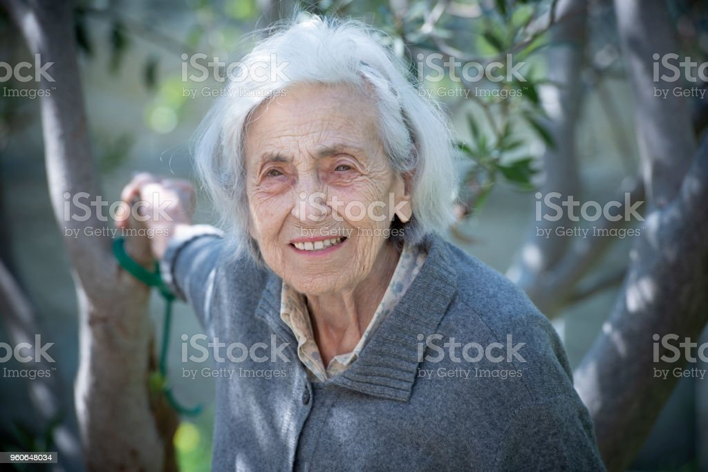 Senior woman smiling - foto stock