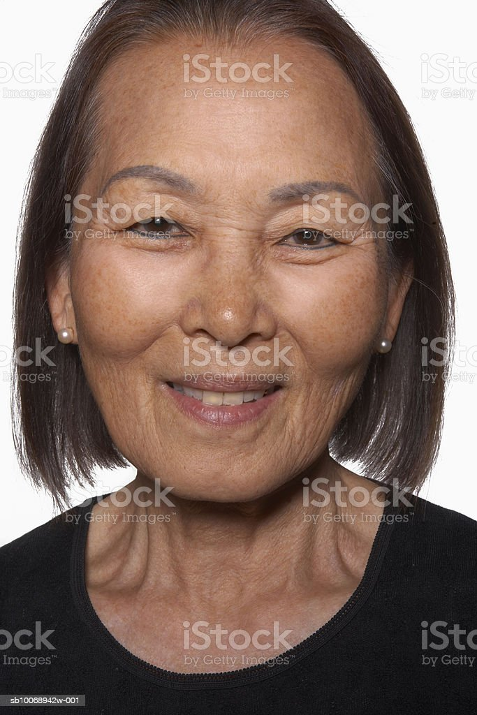 Senior woman smiling, portrait royalty-free stock photo