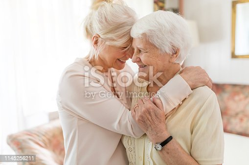 istock Senior woman spending quality time with her daughter 1145256211
