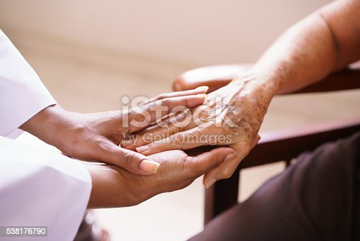 istock Senior Woman Talking With Black Doctor In Hospice 538176790