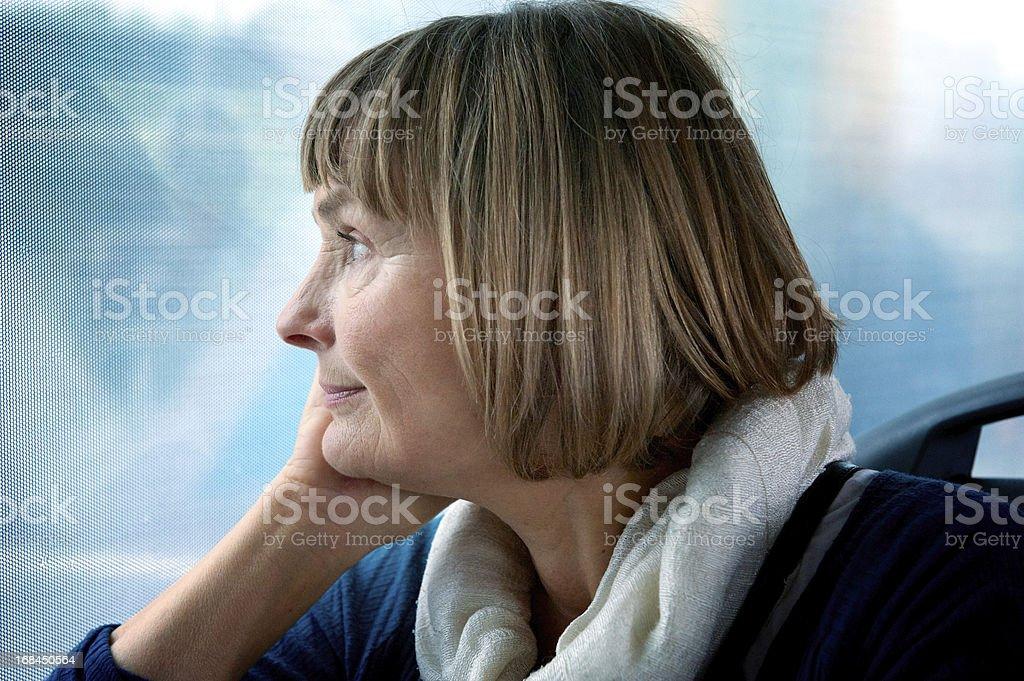 Senior Woman travelling stock photo