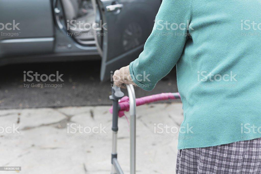 Senior Woman Walking To Car royalty-free stock photo