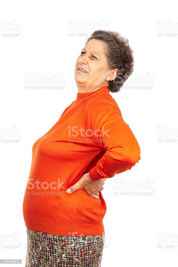 Senior woman with backache royalty-free stock photo