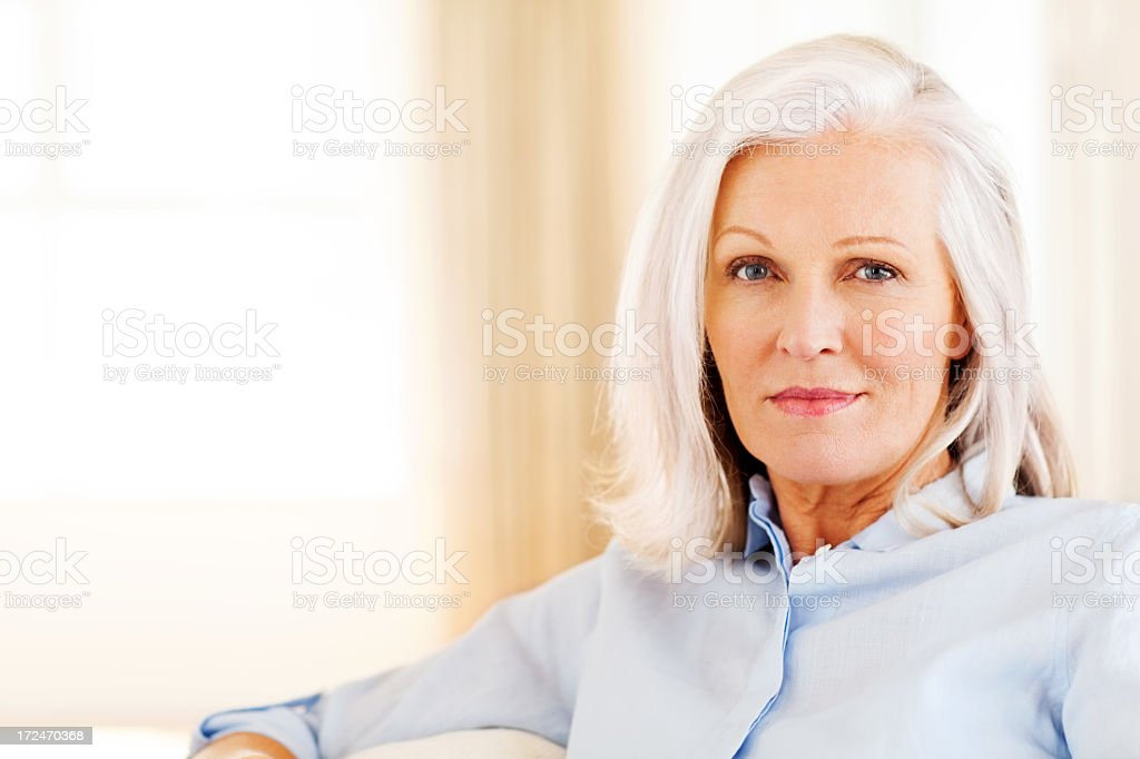 Senior Woman With Blank Expression royalty-free stock photo