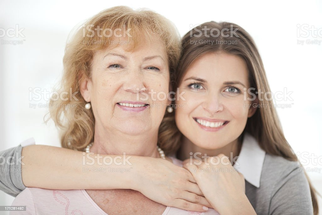 Senior woman with daughter. royalty-free stock photo