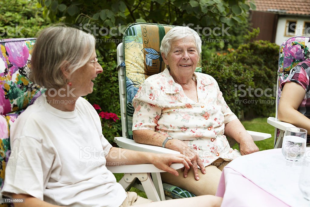 senior woman with daughter royalty-free stock photo
