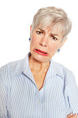 Senior Woman With Frowny Look