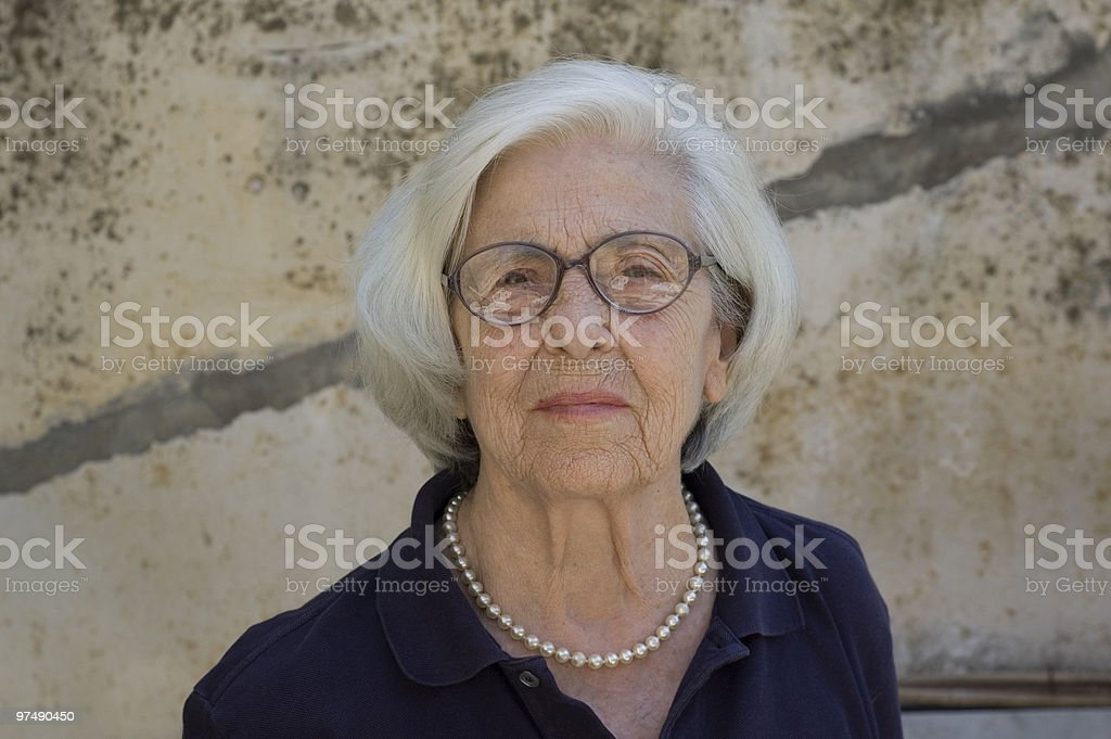Senior woman with glasses royalty-free stock photo