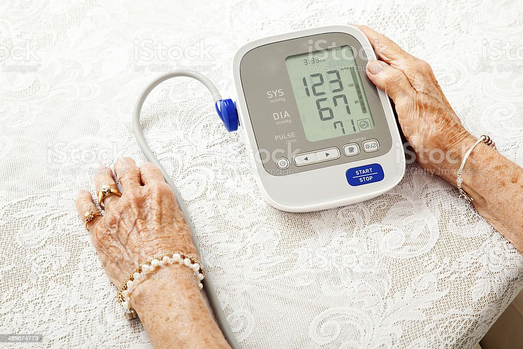 Senior Woman With Low Blood Pressure stock photo