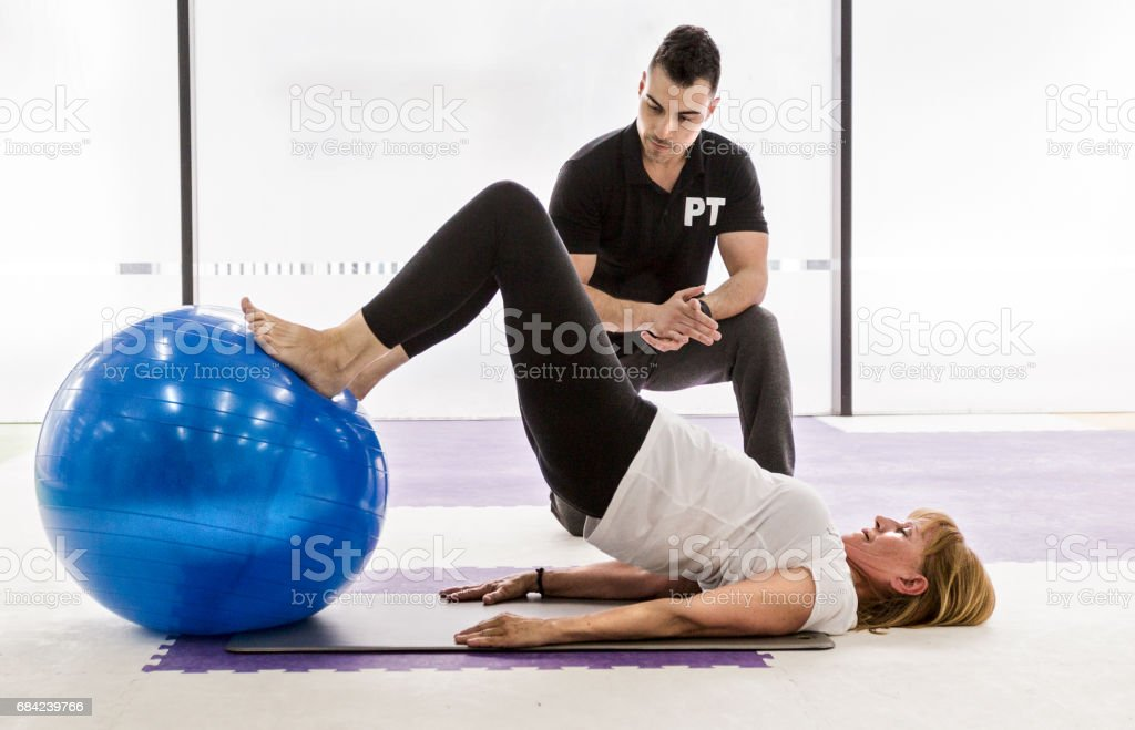 Senior woman working out royalty-free stock photo