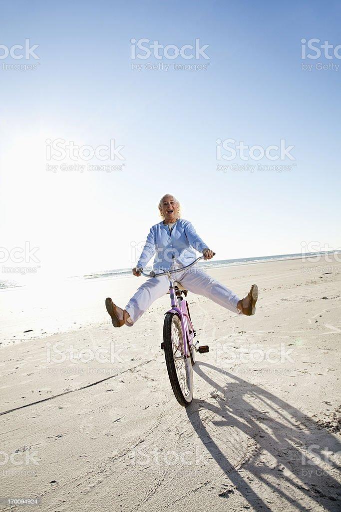 Senior woman, young at heart stock photo