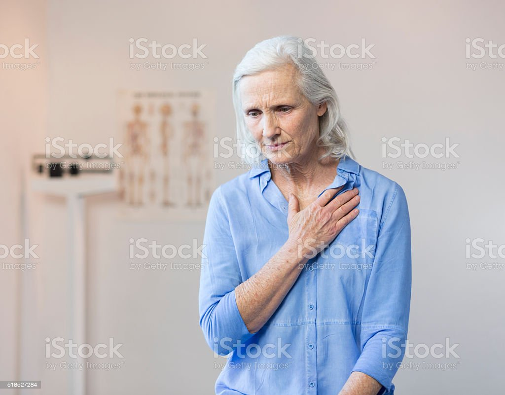 Senior Woman's Doctor's Office Visit stock photo