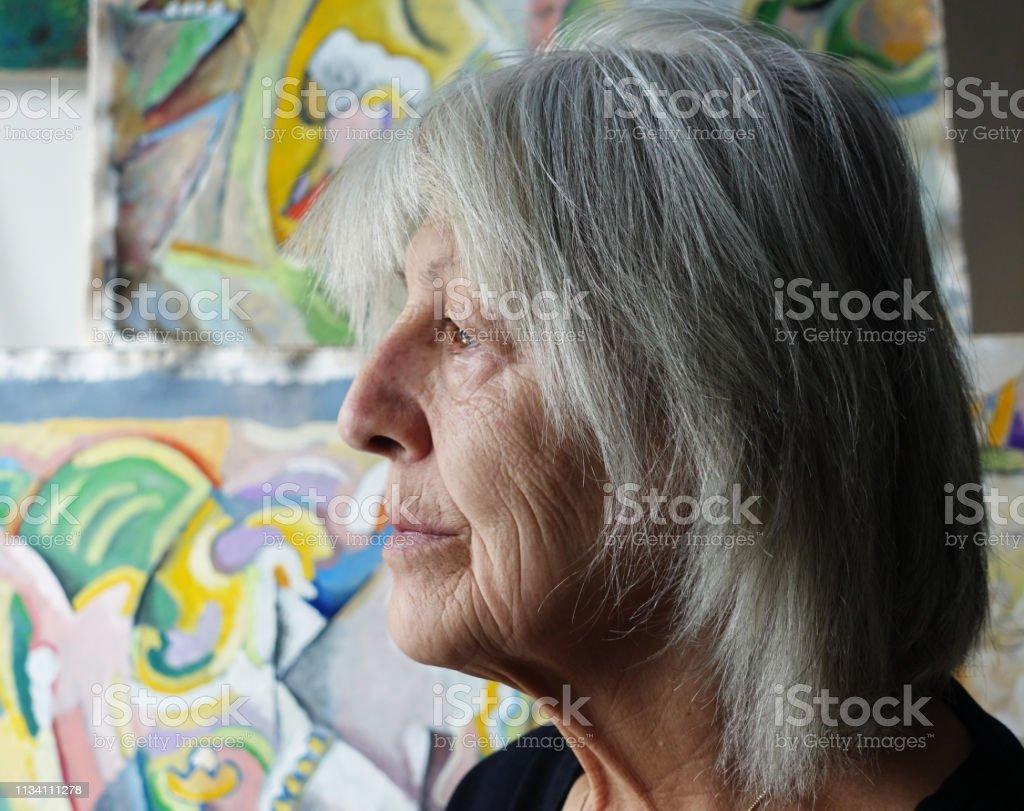 Profil der Seniorin – Foto