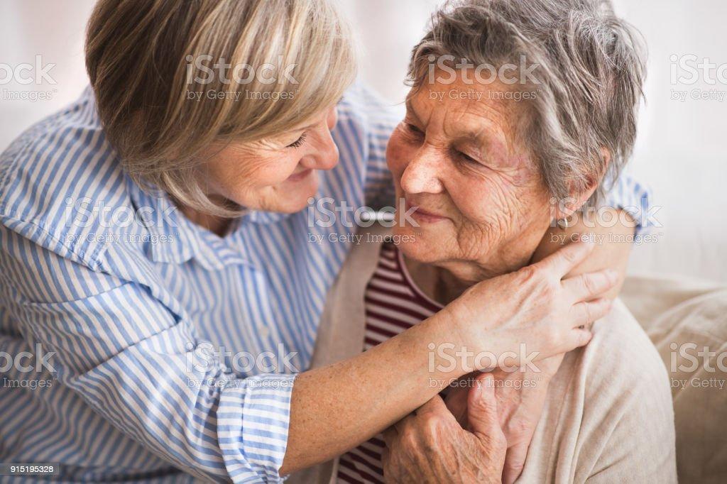 Senior women at home. royalty-free stock photo