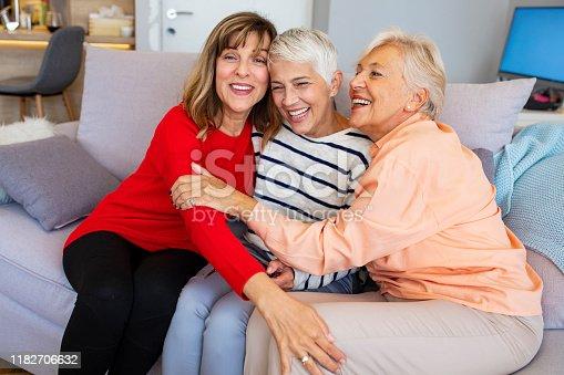 1053414472istockphoto Senior women, best friends, laughing 1182706632
