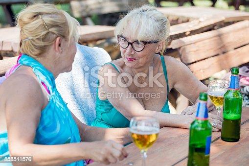 istock Senior women on summer holiday 858541576