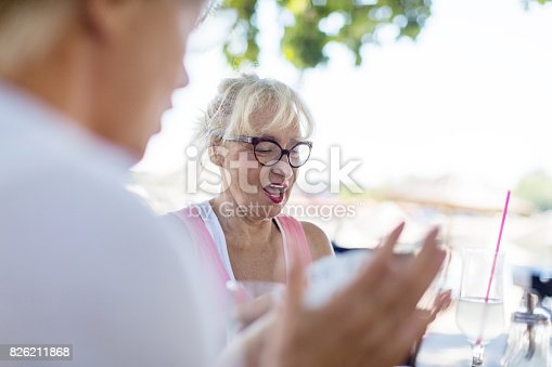 istock Senior women playing cards 826211868