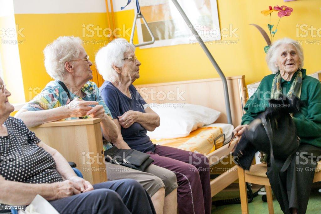 Senior Women Relaxing in Retirement Home
