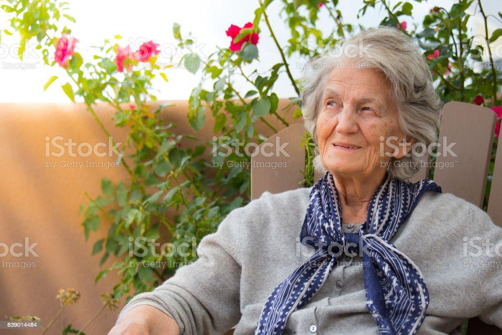 Senior Women Smiling, Outdoors stock photo