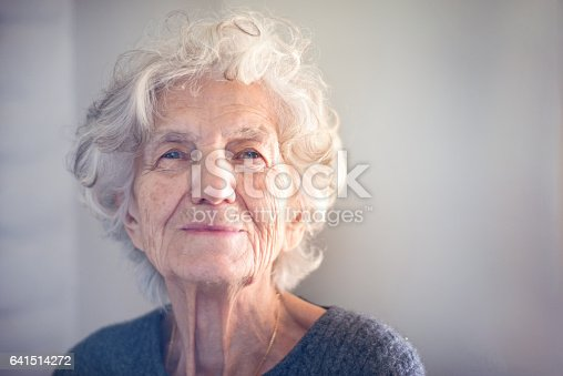 istock Senior Women with Gentle Smile 641514272