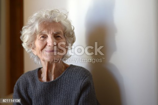 istock Senior Women with Gentle Smile 821114106