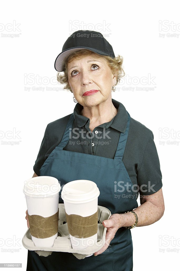 Senior Worker - Why Me royalty-free stock photo